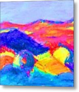 Abstract Hills Metal Print