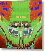 Abstract Holistic Vallely Graphic Painting Inspiration From Sargada Temple  Lights N Shades Sagrada  Metal Print