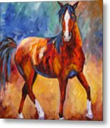 Abstract Horse Attitude Metal Print