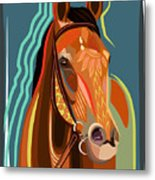 Abstract Horse Metal Print