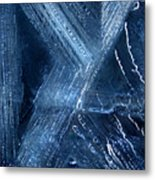 Abstract Ice. Darkness Metal Print