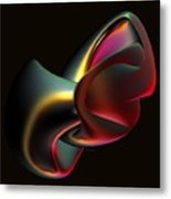 Abstract In 3d Metal Print