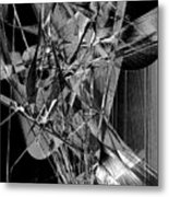 Abstract In Black And White 2 Metal Print