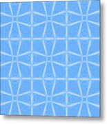 Abstract In Blue Metal Print