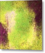 Abstract In Green And Brown Metal Print