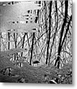 Abstract In Ice Metal Print