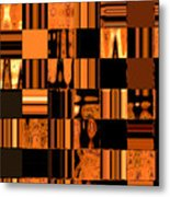 Abstract In Orange And Black Metal Print