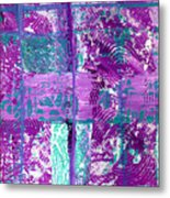 Abstract In Purple And Teal Metal Print