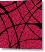 Abstract In Red And Black Metal Print
