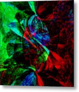 Abstract In Red And Green Metal Print