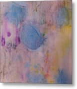 Abstract In Red, Blue, And Yellow Metal Print