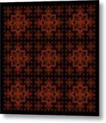 Abstract In Red Metal Print