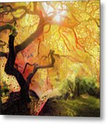 Abstract Japanese Maple Tree 2 Metal Print