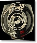 Abstract Japanese Vase Black Metal Print