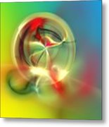 Abstract Karma Wheel Metal Print