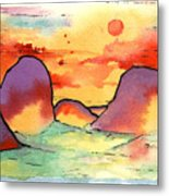 Abstract Landscape 006 Metal Print
