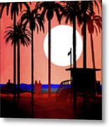 Abstract Landscape Beach Art 3 - By Diana Van Metal Print