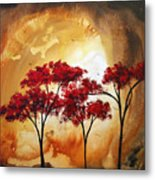 Abstract Landscape Painting Empty Nest 2 By Madart Metal Print by Megan Duncanson
