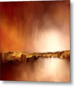 Abstract Landscape Reflection Metal Print