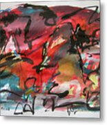 Abstract Landscape Sketch13 Metal Print