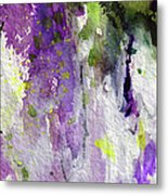 Abstract Lavender Cascades Metal Print