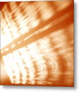 Abstract Light Rays Metal Print