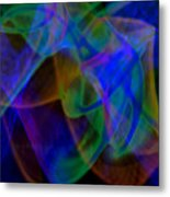 Abstract Light Trails Metal Print