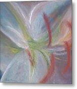 Abstract Lily Metal Print
