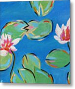 Abstract Lily Pads Metal Print
