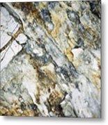 Abstract Limestone And Silica Texture Metal Print
