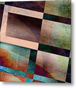 Abstract Lines And Shapes Metal Print