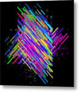 Abstract Lines Metal Print
