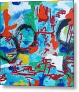 Abstract Love Metal Print