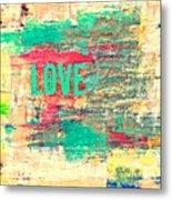 Abstract Love V2 Metal Print