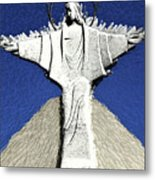 Abstract Lutheran Cross 5a Metal Print