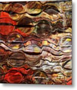 Abstract Magnified Lines Metal Print