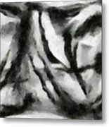 Abstract Monochome 158 Metal Print