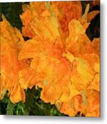 Abstract Motif By Yellow Daffodils Metal Print