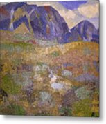 Abstract Mountain Landscape Metal Print