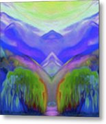 Abstract Mountains By Nixo Metal Print