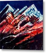 Abstract Mountains Metal Print