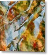 abstract mountains I Metal Print