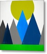 Abstract Mountains Landscape Metal Print