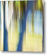 Abstract Moving Trees 30 Metal Print