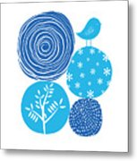 Abstract Nature Blue Metal Print