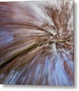 Abstract Of A Spring Tree In Bloom. In Camera Effect. Metal Print