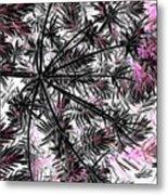 Abstract Of Ever Green Bush Metal Print