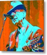 Abstract Of Leonard Cohen Metal Print