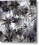Abstract Of Low Growing Evergreen Shrub Metal Print