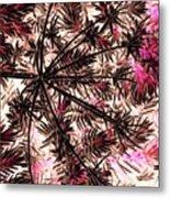 Abstract Of Low Growing Shrub  Metal Print